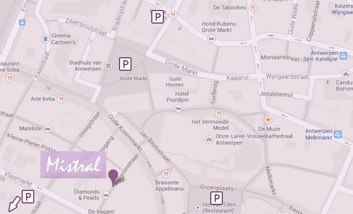 Eethuisje-Mistral-Antwerpen-kaart-parkeren